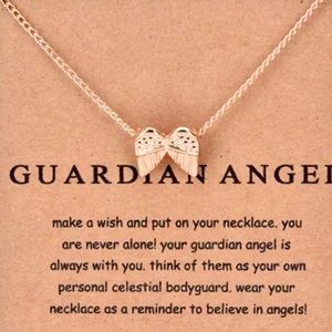 Jewelry - GOLD DIPPED MINIMALIST GUARDIAN ANGEL WING